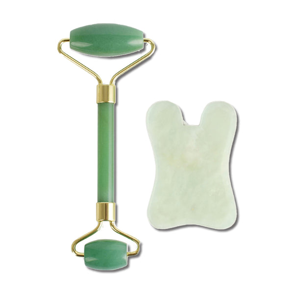 JADE ROLLER & GUA SHA SET <br> Facial Massage Bundle
