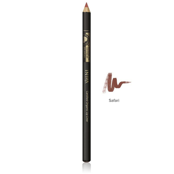LIP LINER PENCIL <br> Certified Organic. Creamy blend of cold pressed plant waxes and oils, with added mineral pigments <br> [ 4 shades ]