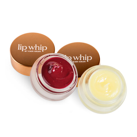 LIP WHIP SUJI RED + LIP BUFF DUO <br> A mini spa treatment for lips plus burst of colour with moisturising boost