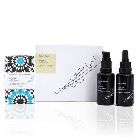 KAHINA GLOW BOX SET <br> All you need for radiant skin from head to toe