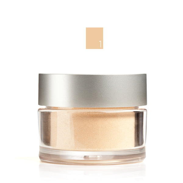 MINERAL FOUNDATION <br> Lightweight powder with buildable, long lasting, light reflecting coverage. 8.5g <br> [ 8 shades ]