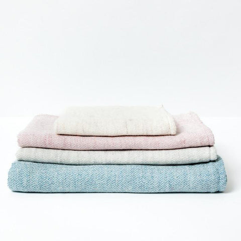 KONTEX TOWEL <br>Claire. Soft woven towel with terry pile back. Organic cotton & linen