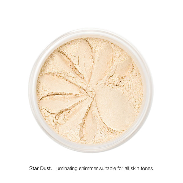 MINERAL SHIMMER <br> Luxuriously sheer glistening finish for cheekbones, shoulders and décolletage