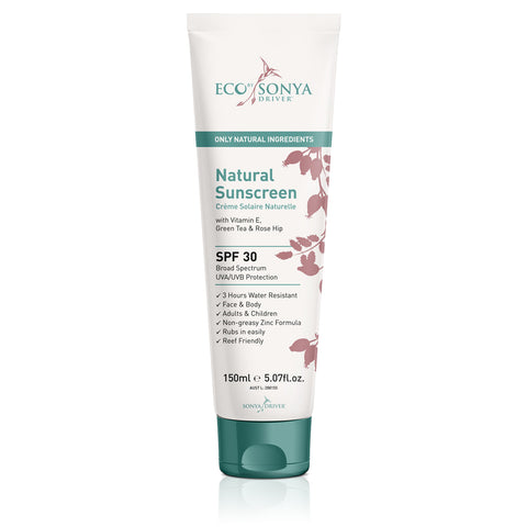 NATURAL ROSE HIP SUNSCREEN SPF 30. Broad Spectrum UVA/UVB Protection, 150ml