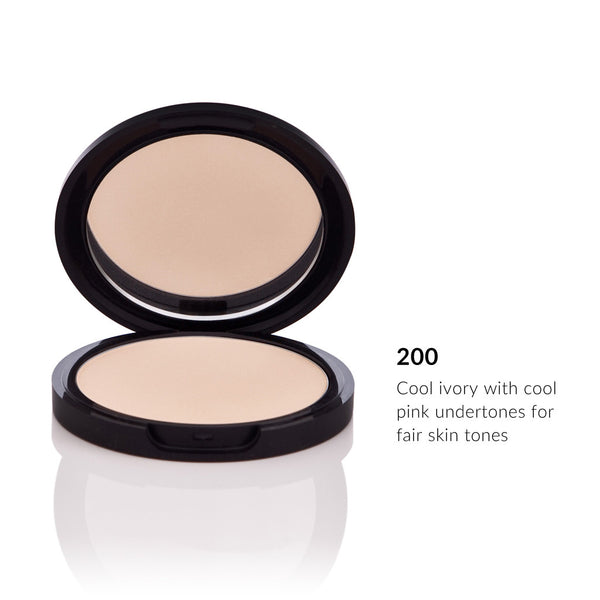PRESSED POWDER FOUNDATION <br> Buildable Medium to Full Coverage <br> [ 6 shades ]