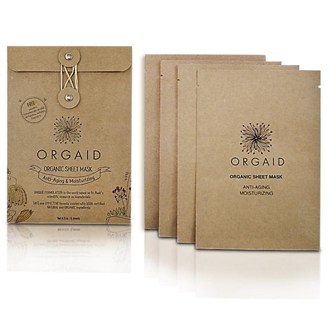 ANTI-AGING & MOISTURIZING <br> ORGANIC SHEET MASK BOX <br> 4 Sheets