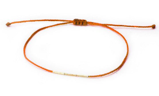 Bamboo Bracelet Coral <br> 14K YELLOW GOLD <br> HORTENSE