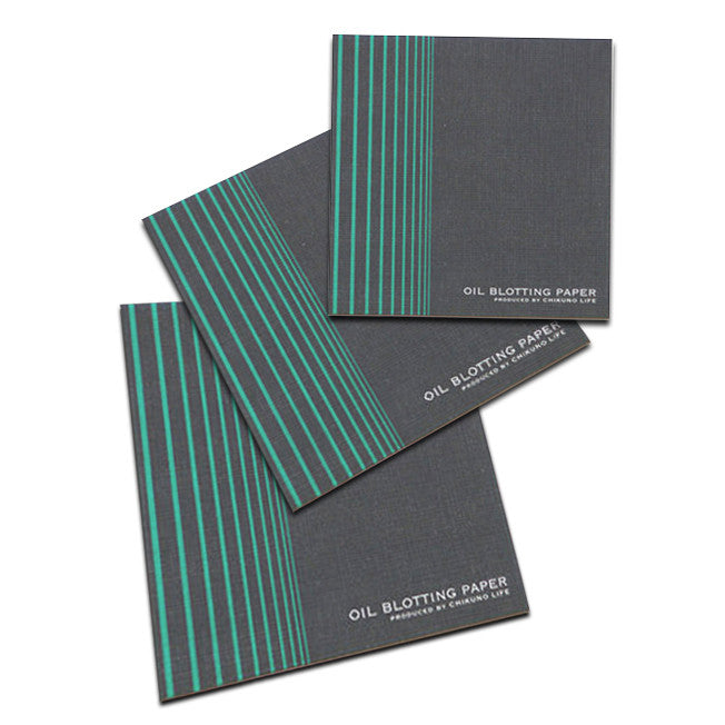 CHIKUNO FACIAL BLOTTING PAPER <br> Unique oil-control blotting paper with bamboo charcoal powder, 30 sheets