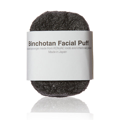 BINCHOTAN FACIAL PUFF <br> Gently exfoliates skin and balances its natural PH level