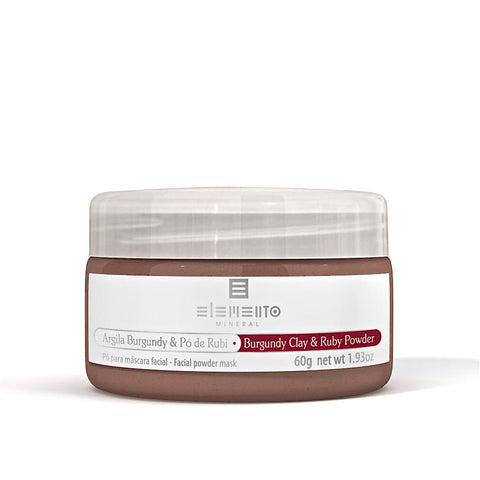 BURGUNDY CLAY & RUBY POWDER <br> Clay Powder Facial Mask 60g