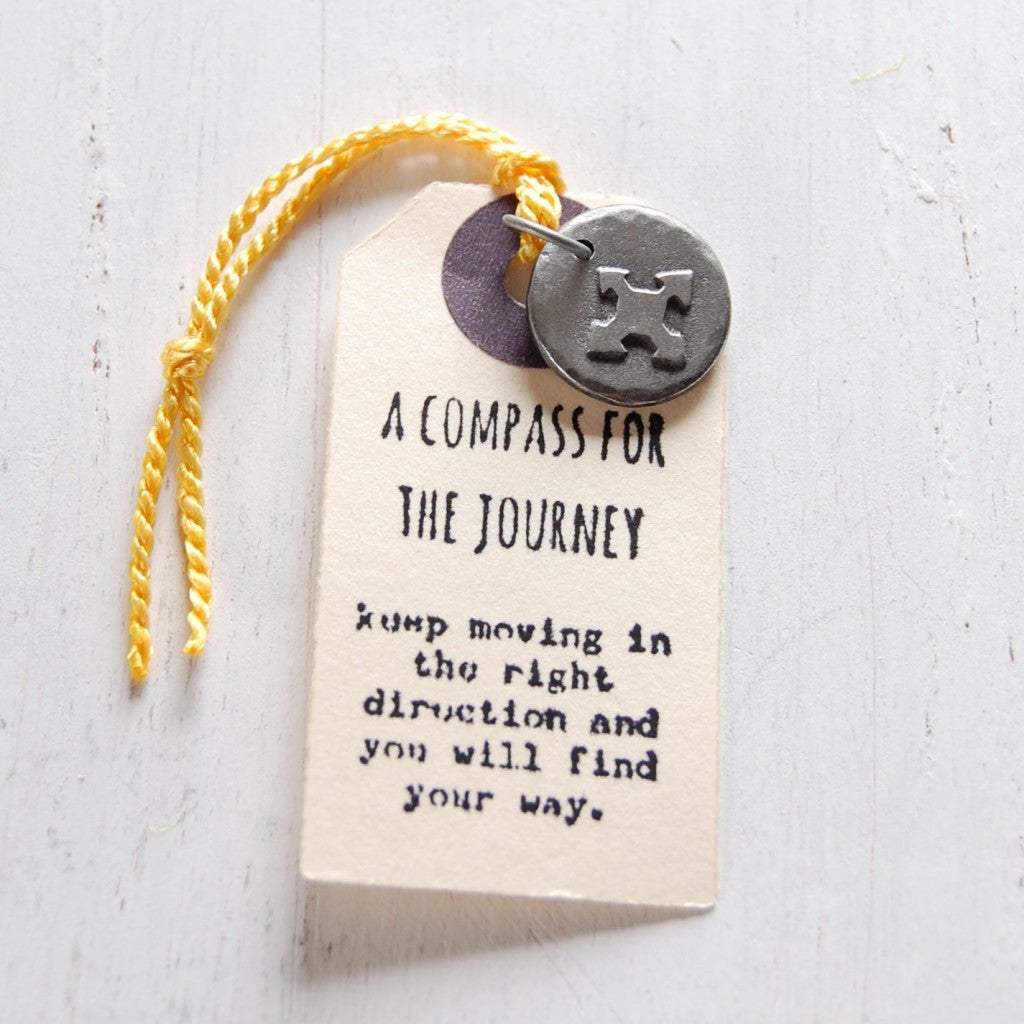 Compass For The Journey Charm <br> PEWTER CHARM <br> KUTUU