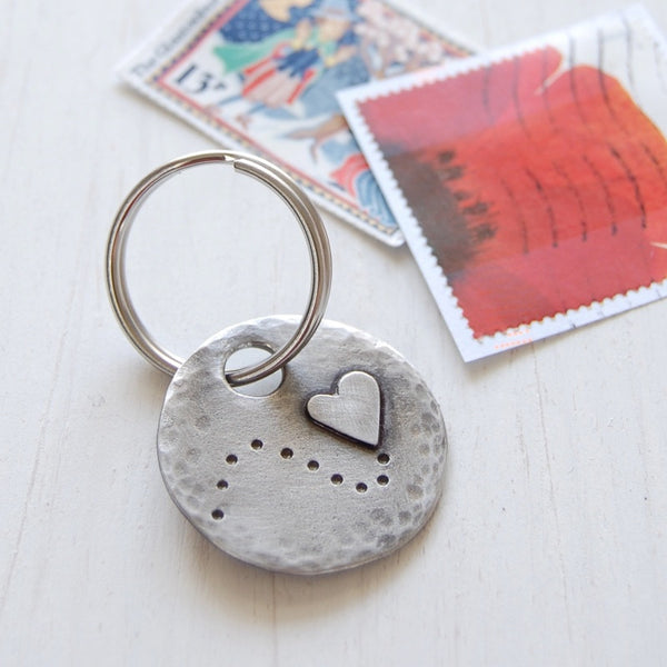 Follow Your Heart Keyring <br> PEWTER KEYRING <br> KUTUU