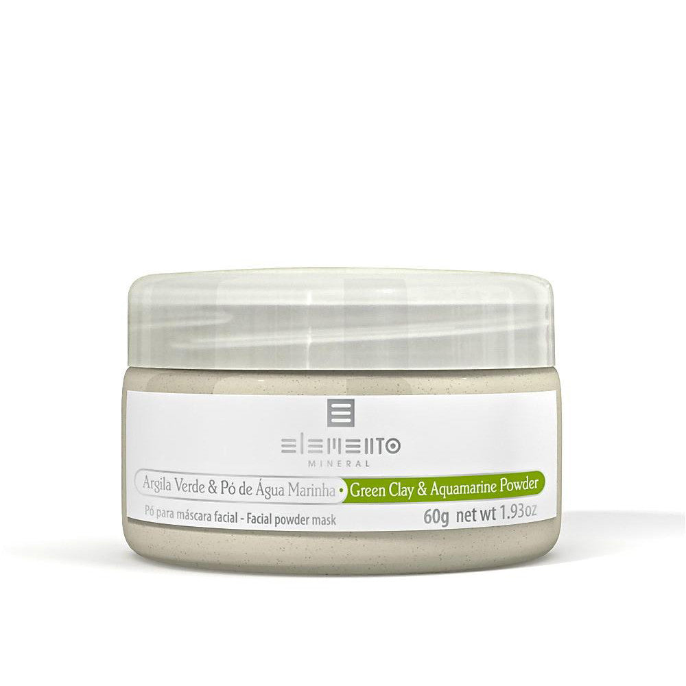 GREEN CLAY & AQUAMARINE POWDER <br> Clay Powder Facial Mask 60g