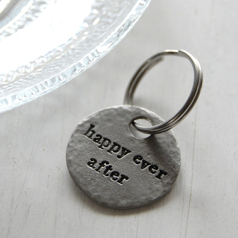 Happily Ever After Keyring <br> PEWTER KEYRING <br> KUTUU