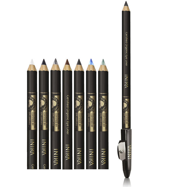 EYELINER <br> Certified Organic. Handcrafted pencils with natural plant ingredients & mineral colours <br> [ 8 shades ]
