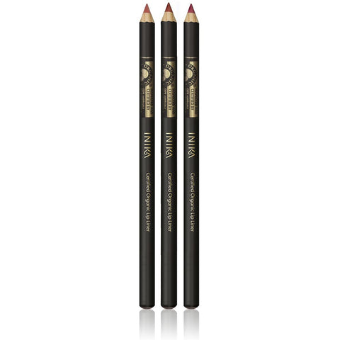LIP LINER PENCIL <br> Certified Organic. Creamy blend of plant waxes, oils & mineral pigments <br> [ 4 shades ]