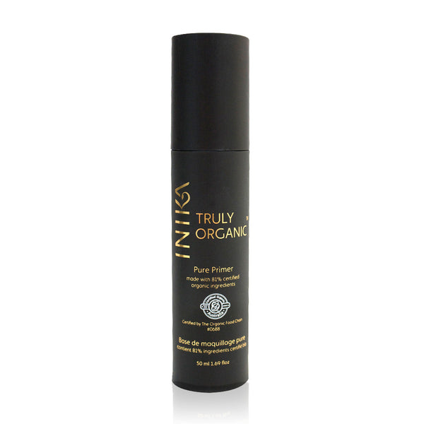 PURE PRIMER <br> Certified Organic. Hydrating, creates an even canvas, and helps with long-lasting foundation coverage, 50ml