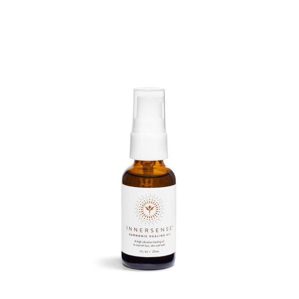 HARMONIC HEALING OIL <br> A high-vibration healing oil to nourish hair, skin and nails