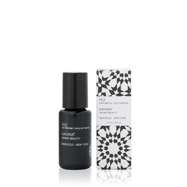 FEZ PERFUME OIL <br> Exotic and sensual, the warm, grounding fragrance evokes the spirit of the ancient Moroccan city, 15ml Roll-on