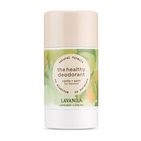 THE HEALTHY DEODORANT <br> Vanilla + Earth