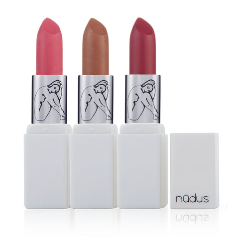 NUDUS LIPSTICK <br> Ayurvedic bio-active colour extracts with certified organic ingredients <br> [ 15 shades ]