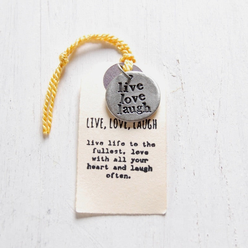 Live Love Laugh Charm <br> PEWTER CHARM <br> KUTUU