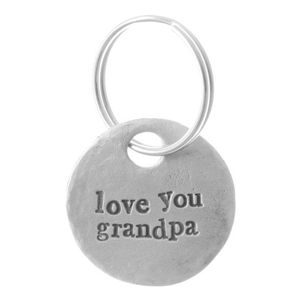 Love You Grandpa Keyring <br> PEWTER KEYRING <br> KUTUU