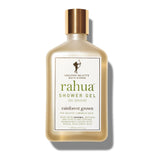 RAHUA SHOWER GEL <br> Gently cleanses and moisturises while awakening the senses with scents of lavender, eucalyptus, vanilla and palo santo, 275ml