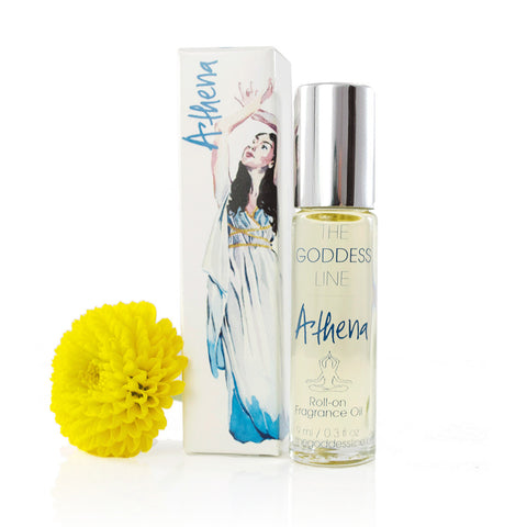 ATHENA PERFUME OIL <br> Lemongrass and Sweet Almond Oil, 10ml