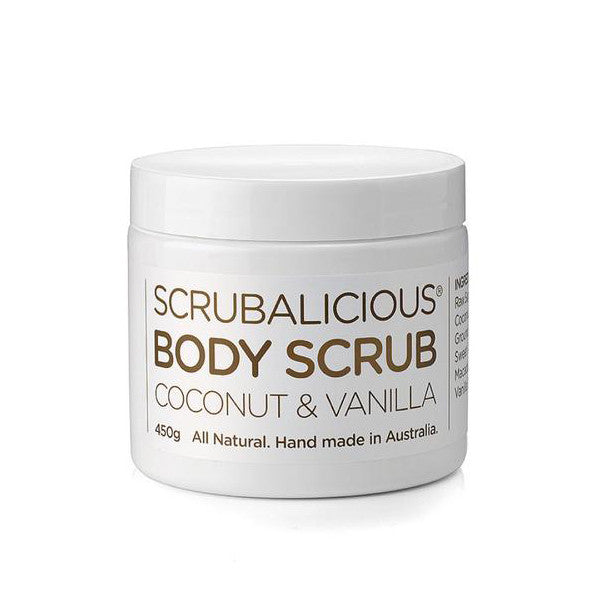 COCONUT & VANILLA BODY SCRUB <br> Anti-inflammatory, antibacterial and smells divine, 450g