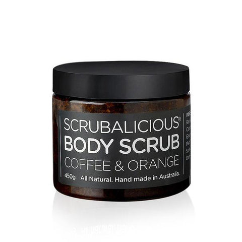 COFFEE & ORANGE BODY SCRUB <br> Tightens skin texture and helps boost collagen production, 450g