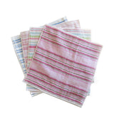 YOSHII FACE WASHER <br> Shirt Stripe Face Cloth, 25cm x 25cm