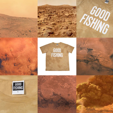 GOOD FISHING - Standard Logo Organic Cotton T-Shirt, Special Edition Hand-Dyed Cutch