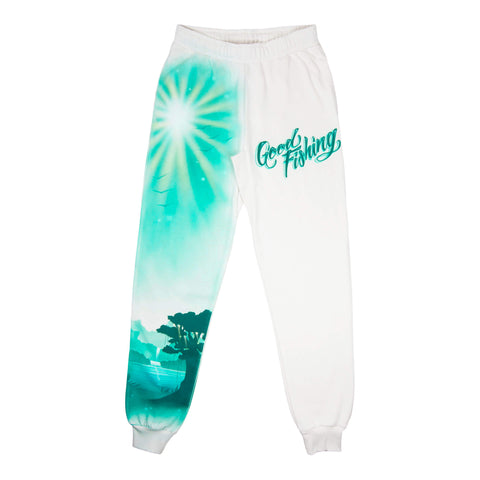Airbrushed Souvenir #3 Sweatpants, Natural