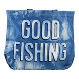 GOOD FISHING - All-Day Market Tote, Hand-Dyed Organic Indigo