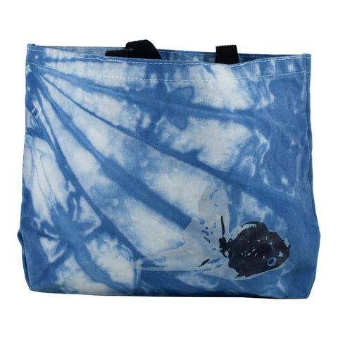 All-Day Market Tote, Hand-Dyed Organic Indigo