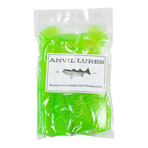 "Anvil Lures 5"" Paddle Tail 6-Pack"