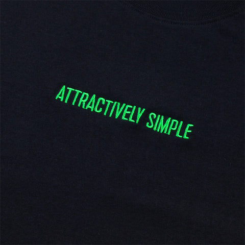 Attractively Simple Organic Cotton T-Shirt, Black