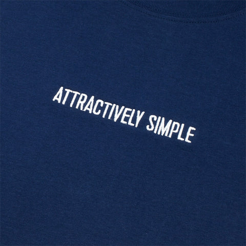 Attractively Simple Organic Cotton T-Shirt, Navy