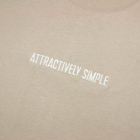 Attractively Simple T-Shirt, Sand / White