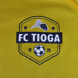 GOOD FISHING - FC Tioga Reversible Training Jersey, No. 9 - Gold Side, Logo Detail