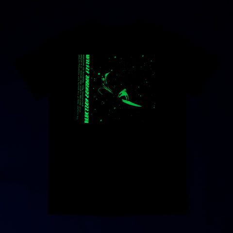 Stage 2: Galactic Surf T-Shirt, Black / Glow In The Dark