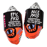 GOOD FISHING - PARK Soccer Ball, Pass-A-Ball Project, Neon Orange - Packaging