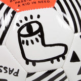 GOOD FISHING - PARK Soccer Ball, Pass-A-Ball Project, Neon Orange - Graphic Detail