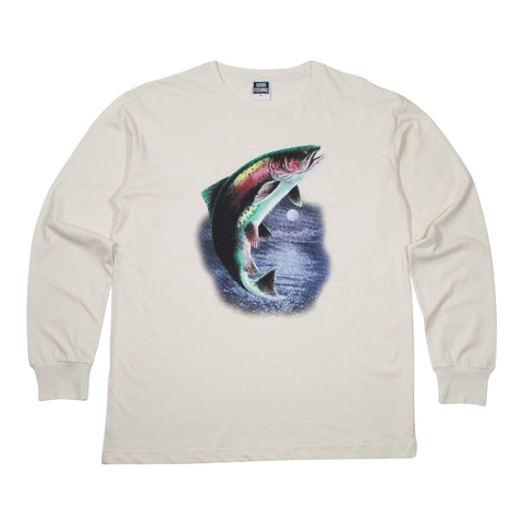 Rainbow Trout Organic Cotton L/S T-Shirt, Natural