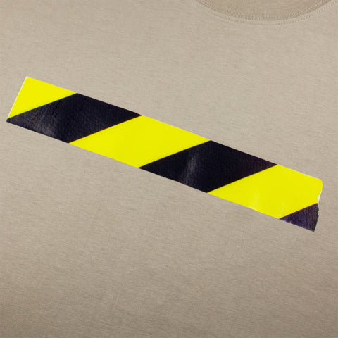 Safety Tape Organic Cotton T-Shirt, Sand