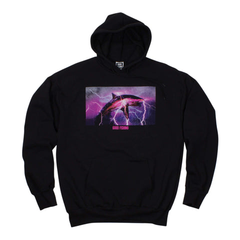 Shark Breach Hoodie, Black