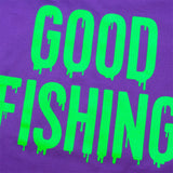 GOOD FISHING - Slime Logo Organic Cotton T-Shirt, 1 Year Anniversary Special Edition - Graphic Detail