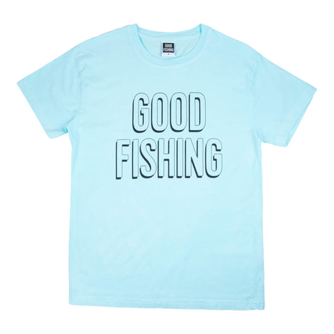 Standard Logo T-Shirt, Hand-Dyed Ice Blue