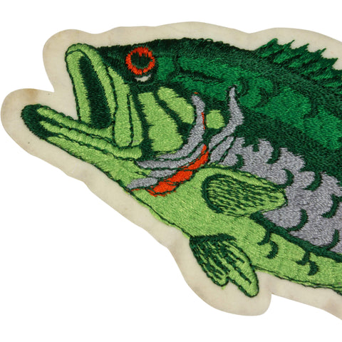 Vintage Fishing Patch, Largemouth Bass